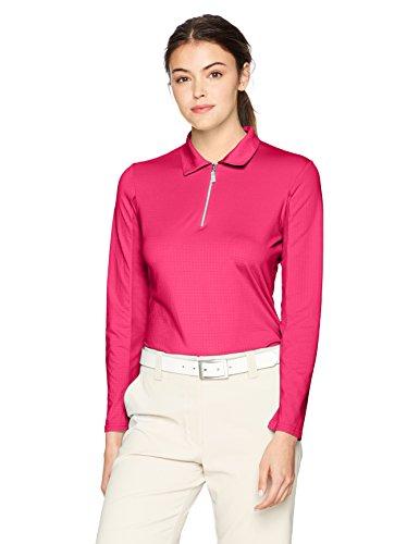 Bette & Court Women's Swing Polo, Hot Pink, Medium