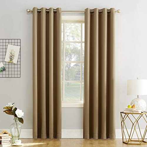 "63""x54"" Kenneth Energy Saving Blackout Grommet Top Curtain Panel Taupe - Sun Zero"