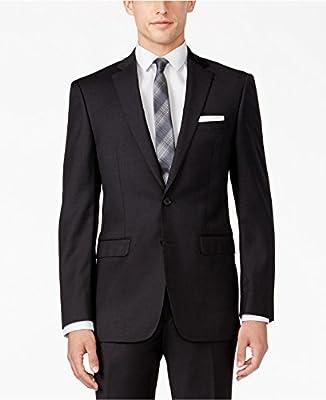 Calvin Klein Extreme Slim Fit Charcoal Solid Notch Lapel Flat Front New Men's Suit Set