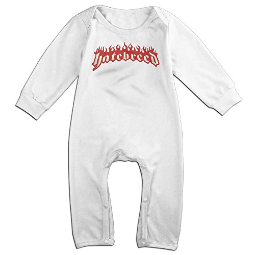 Confessional Costume - KIDDOS Baby Infant Romper American Metalcore Band Long Sleeve Jumpsuit Costume,White 18 Months