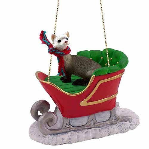 Amazon.com: Ferret Sleigh Ride Christmas Ornament - DELIGHTFUL! by  Conversation Concepts: Home & Kitchen - Amazon.com: Ferret Sleigh Ride Christmas Ornament - DELIGHTFUL! By