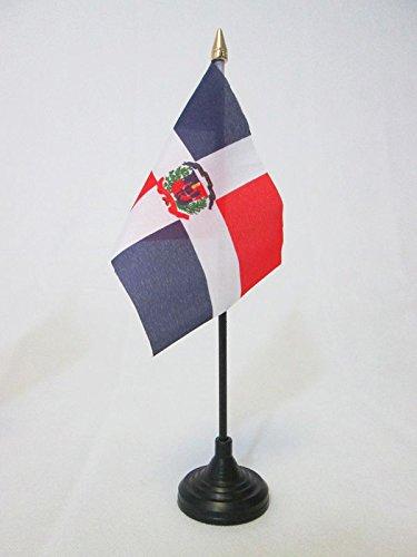 AZ FLAG Drapeau de Table République Dominicaine 15x10cm Pointe Or