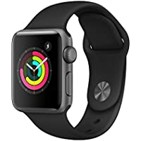 AppleWatch Series3 (GPS, 38mm) - Space Gray Aluminium Case with Black Sport Band