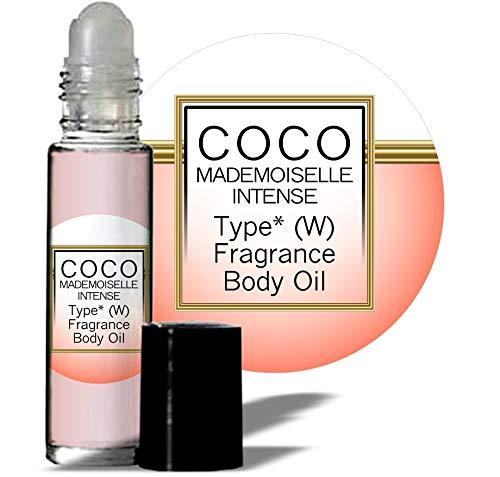 Oil Intense Perfume (MoBetter Fragrance Oils' Impression of Coco Chanel Mademoiselle Intense for Women Body Oil Fragrance 1/3 oz roll on Glass Bottle)