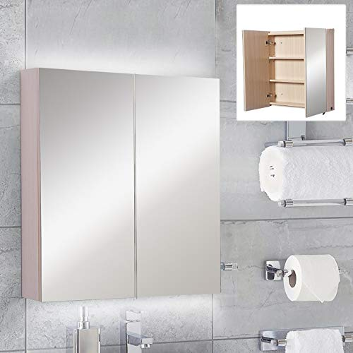 Festnight 2 Door LED Bathroom Mirror Medicine Cabinet, for sale  Delivered anywhere in USA