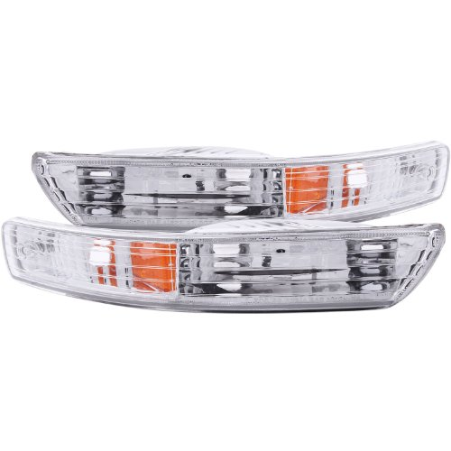 Anzo USA 511021 Acura Integra Chrome Euro w/Amber Reflector Bumper Light Assembly - (Sold in Pairs) - Euro Turn Signals