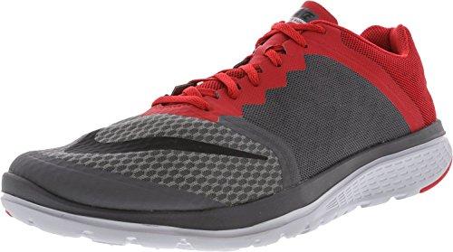 Nike Heren Fs Lite 2 Hardloopschoenen Donker Grijs / Zwart-universiteit Rood-wolf Grijs