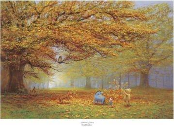 Winnie the Pooh - Autumn Leaves Art Print Art Poster Print ...