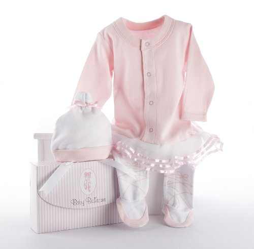 Baby Aspen, Baby Ballerina Two-Piece Layette Set in Gift Box, Baby Shower Gift, Newborn Onesie, Baby Halloween Costume, 0-6 Months