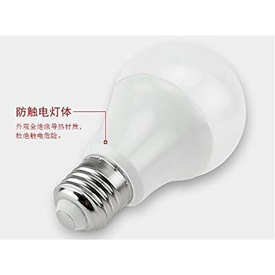 éclairage Intérieur d'économie d'énergie Lampe LED E27Ampoule Superbright Vis 10W ordinaires de foyer Lampes LED, Lot de 3, 12W, Blanc