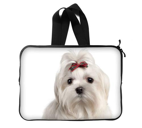 CustomLittleHome Small Dog Breeds Maltese Puppies Custom Lapotp Sleeves Bags 13