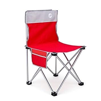 Folding Chair Health UK Chaise Pliante Rouge Sports Confortable Fer Realisateur Croquis Art Tabouret Longue