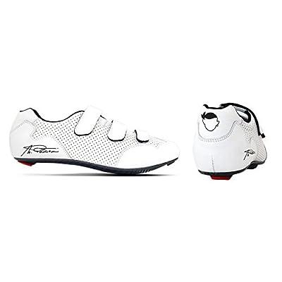 "'Chaussures cyclisme artisanales respirantes Made en Italy modèle Custom St Semelle carbo-nylon ""Marco Pantani en véritable cuir 39/46"