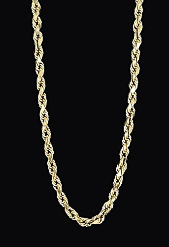 Real-Solid-10k-Yellow-Gold-Diamond-Cut-Rope-Chain-16-to-28-30mm