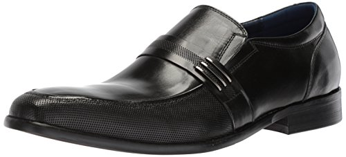 Steve Madden Men's Othello Loafer, Black Leather, 9.5 M US by Steve Madden
