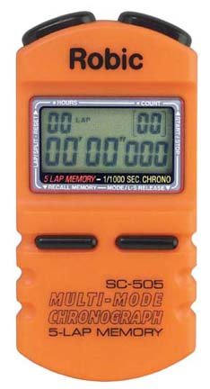 Robic SC-505 1/1000th Second Sports Chronometer...Orange (Set of 2) by Robic