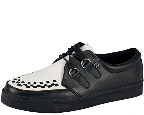 T.U.K. Unisex Creeper Sneaker,Black/White,Men's 6 M/Women's 8 M (White Shoes Jane Adult)