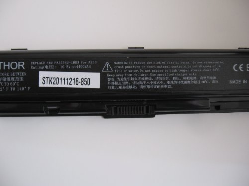 Thor Brand Replacement 6 Cell 10.8v Battery Pack for Toshiba Satellite Laptop Computer: A215-s7433 A215-s7437 A215-s7444 A215-s7447 A215-s7462 A215-s7472 A215-sp401 A215-sp5809 A215-sp5810 A215-sp5811 A215-sp5816 A215-sp6806 A215-sp6808 A300-st3501 Batterypack (Toshiba Pack)