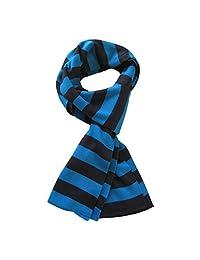 TrendsBlue Soft Knit Striped Scarf - Blue & Black