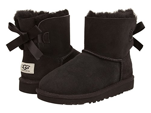 UGG New Australia Mini Bailey Bow Black 6 Youths Boots ()