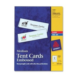 AVE5305 - Avery Medium Embossed Tent Cards by Avery