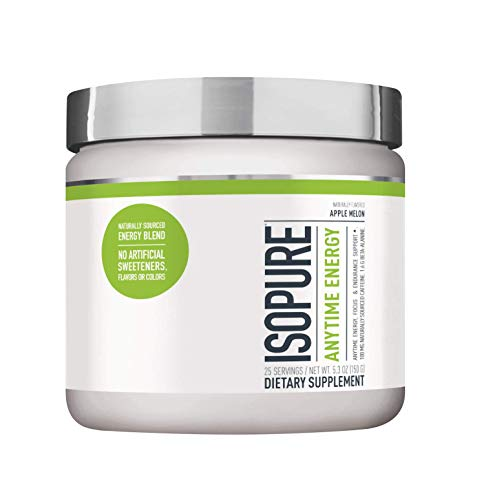Isopure Anytime Energy – Supports Energy, Mood, and Endurance – Apple Melon Flavor