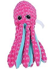 Puppy-octopus vocaal speelgoed, piepend speelgoed voor hond schattig uiterlijk huisdier piepend speelgoed vocaal speelgoed huisdier interactief speelgoed Corduroy octopus voor grote