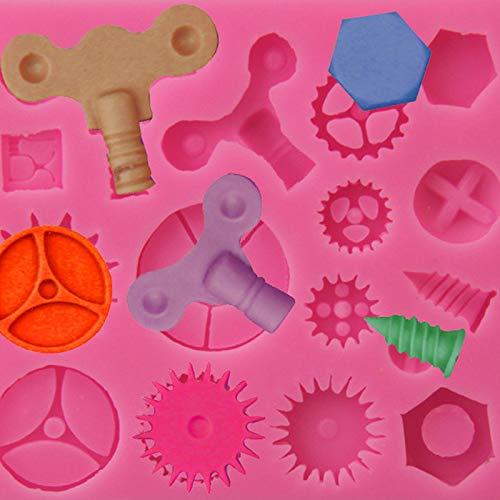 Chytaii.Moldes Silicona Reposteria 3D Fondant Forma De Steampunk Herramientas de Hardware Postre El Helado Pasteler/ía Herramientas Decorativas