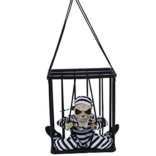 BESTOYARD ハロウィンぶら下がりゴースト声で活性化された囚人幽霊の家のバーの恐ろしいパーティー小道具の装飾KTVパーティー(目隠しなし)