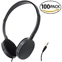 SmithOutlet 100 Pack Foam Earpad Stereo Headphones in Bulk