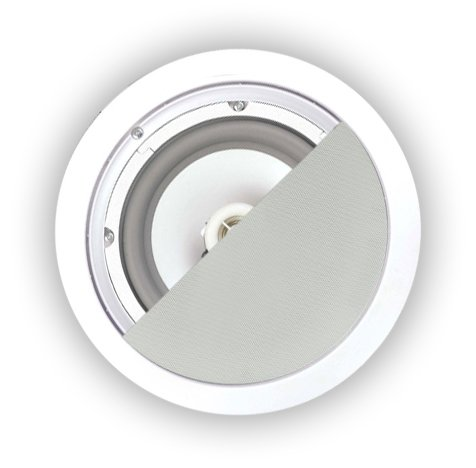 OSD Weatherproof In Ceiling 8'' In Wall Weather Resistant Speaker ICE800WRS 150W (white, pair) by OSD Audio