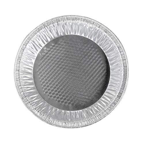 Handi-Foil 10 inch (Actual Top-Out 9-5/8 Inches - Top-In 8-3/4 Inches) Aluminum Foil Pie Pan - Disposable Baking Tin Plates (50)