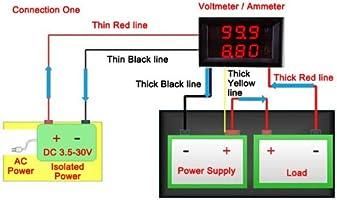 Drok Reg 0 28 Dc 0 100v 10a Digital Voltmeter Ammeter Voltage Current Tester Gauge 5 Wire Red Bright Led Display For Solar Battery Monitor Car Motor Panel Mount Amazon Co Uk Diy Tools