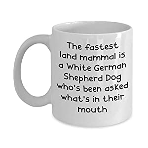 White German Shepherd Dog Mugs - White 11oz 15oz Ceramic Tea Coffee Cup - Perfect For Travel And Gifts 12