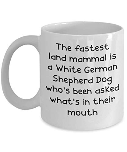 White German Shepherd Dog Mugs - White 11oz 15oz Ceramic Tea Coffee Cup - Perfect For Travel And Gifts 1