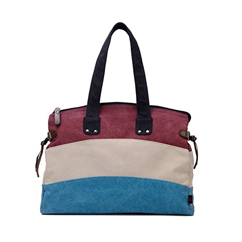 Walcy Fashionable Canvas Leisure Women's Handbag,Square Cross-Section Tote HB880044C2