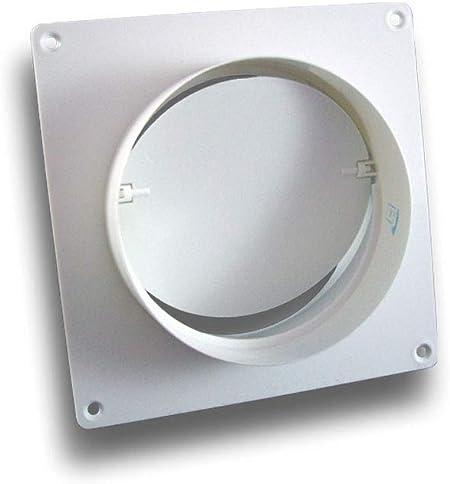 Wandflansch mit Rückstauklappe Rückschlagventil mit Platte PVC 125mm