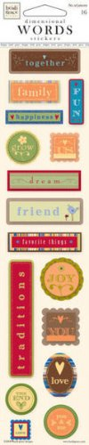We Are Family Dimensional Words Scrapbook Stickers (01-001687)
