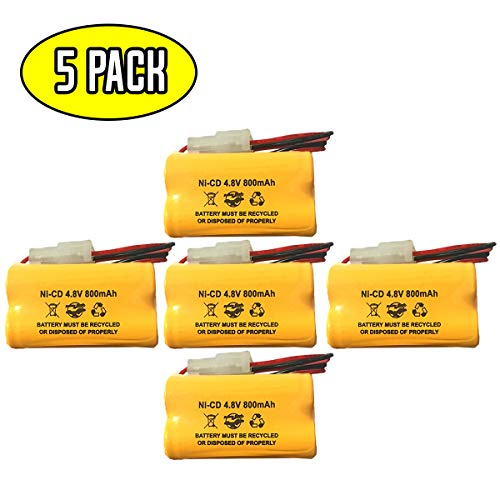 Nicd Battery Packs - (5 Pack) Prescolite EDCNRB 4.8v Exit Sign Emergency Light Battery Pack Replacement Energizer N20AE015A Ni-CD AA 800mAh CUSTOM-222 NIC0905 OSA146