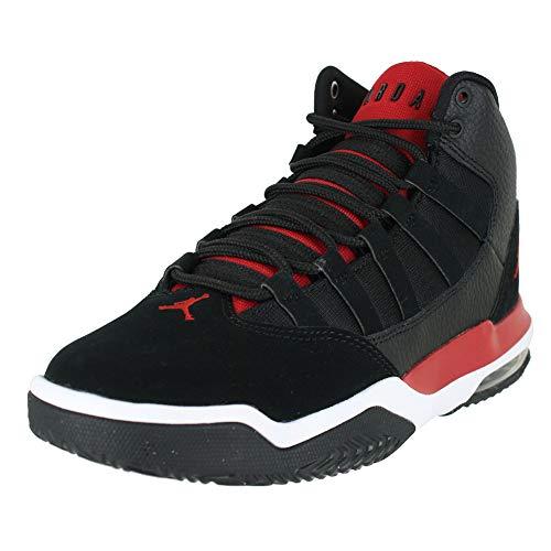 Jordan Kids MAX Aura GS Black Gym RED White Size 4 (Air Jordan 5 Fire Red Black Tongue 2013)