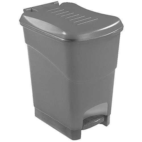Kis Koral Waste Container, Silver, 16 Litre by Kis