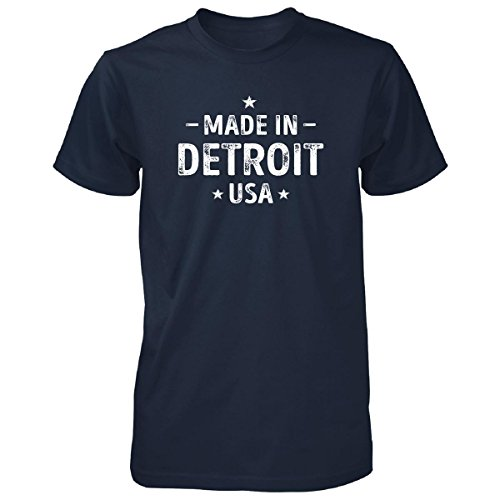 Made In Detroit City, Usa. Cool Gift - Unisex Tshirt Navy Adult 2XL