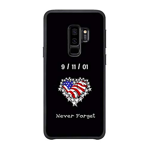 Skinsends Funny Never Forget 9/11 Phone case Compatible with Galaxy s9 Plus, US Flag Heart Protective Cases Compatible with Samsung Galaxy s9 Plus]()