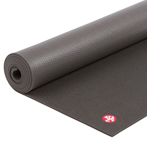 Manduka PRO Yoga Mat - Premium 6mm Thick Mat, Eco Friendly, Oeko-Tex Certified and Free of ALL Chemicals. High Performance Grip, Ultra Dense Cushioning for Support and Stability in Yoga, Pilates, Gym and Any General Fitness. (Manduka Pro Black Yoga Mat)