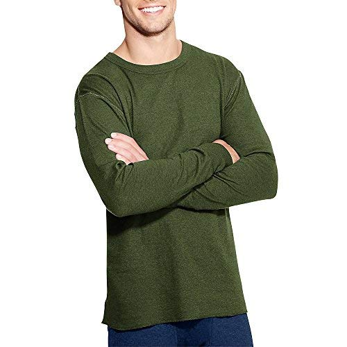 006b8281d Duofold by Champion Originals Wool-Blend Men's Thermal Shirt_Olive Heather_M