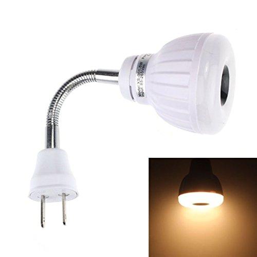Goodtrade8 GOTD PIR Infrared Sensor Light,AC 110V 220V 5W LED PIR Infrared Sensor Motion Detector Light Bulb Lamp US Plug (Warm White)