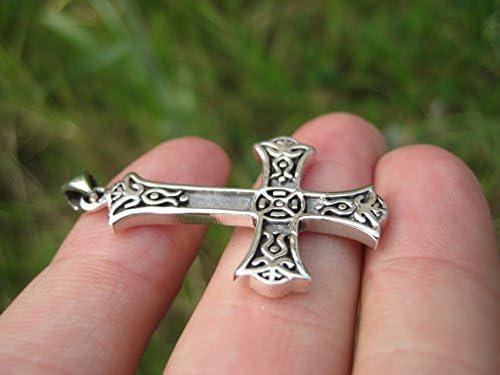 Celtique en argent 925/invers/é Petrine Croix Saint Pierre ou satanique Pendentif A12