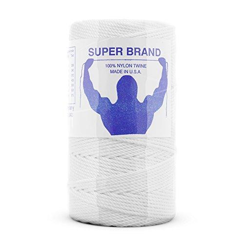 (White Nylon Twine, Twisted. Size #9, 1/4 lb 1-pack)