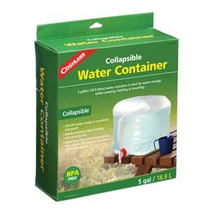 Coghlan's Collapsible Water Container, 5-Gallon, Clear