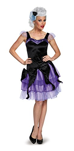 Disguise Women's Ursula Deluxe Adult Costume, Black/Purple, X-Large